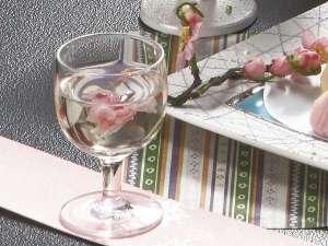 春の食前酒「桜入り島根ワイン(白)」