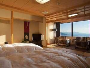 【最上階客室天海】天海は、寝心地抜群のシモンズ製のセミダブルベッドのお部屋