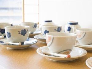 10階モダン料亭「飛梅」では自分の好きなとベりて作品でコーヒーをお飲みいただく事ができます。