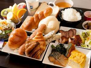 健康朝食はスーパーホテルの自慢の一つです♪