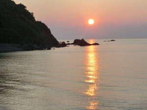大谷海岸の夕陽