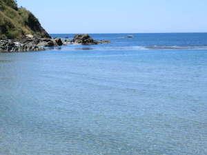 大谷海岸 綺麗で穏やかな浜辺です 宿より徒歩3分
