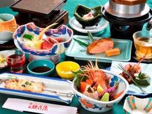 ◆【ご夕食】~山海会席松コース~(※2019年6月~10月の一例です。)