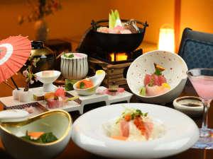 【小綺麗な田舎料理をテーマにした会席料理】味だけでなく目で見て楽しめるお料理です♪※写真は一例