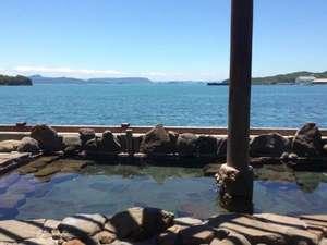 露天風呂「オリーブの湯」からは見渡す限りの瀬戸内海!
