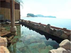 エンジェルロードが一望できる、絶景の天然温泉露天風呂「オリーブの湯」