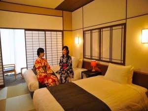 新OPENの北館和室は【癒しの和空間】でありながら、寝るときはベッドで。機能性も兼ね備えてます。