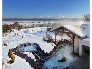 冬景色(露天風呂)
