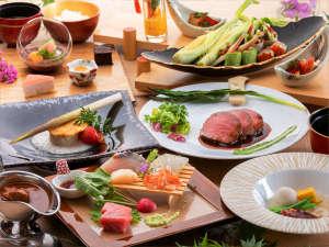 お肉料理を上州牛にグレードアップ♪箸でほぐれる驚きの柔らかさです