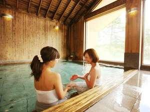 【檜造りのお風呂】開放的なつくりで、気分もリフレッシュ♪