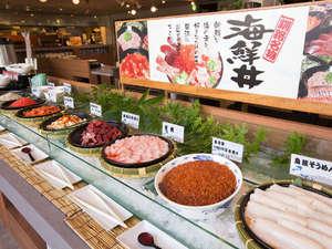 【朝食】海鮮丼。イクラや鮪だけではありませんよ~☆何杯もご飯がすすんじゃうかも?(^^)