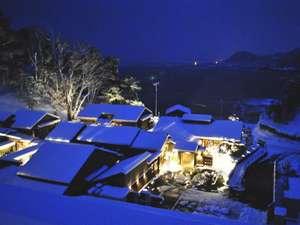 冬の日本海を見下ろす絶景の宿