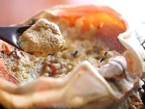 濃厚な香住ガニのカニ味噌も美味