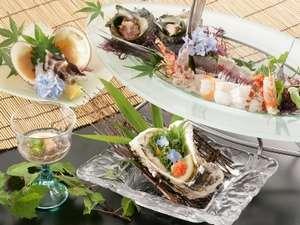 丹後の味覚 岩牡蠣・鳥貝(一例)