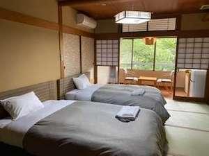 【客室一例】和モダンルーム(セミダブルベッド×2台)