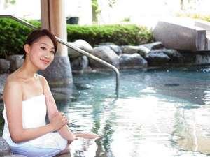 【源泉大浴場】 女性大浴場「百百の湯」バラエティ豊かな湯めぐりが楽しめます(露天風呂イメージ)