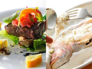 瀬戸内海で獲れた新鮮なお魚と、やわらかな和牛のお料理をゆっくりとお召し上がりください