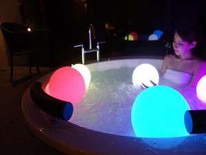 全室専用露天風呂でナイトジャグジーをお楽しみください♪