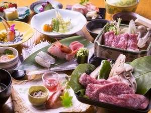 全国的に有名な北海道のブランド牛「白老牛」特別リクエスト御膳でをお楽しみください。