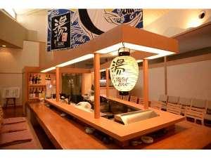 【2階 湯上り海鮮BAR】冷えたビールや秋田の地酒を湯上りに一杯いかがでしょうか?