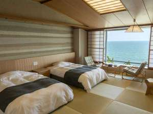 【禁煙リニューアル】最上階海側和室+ツインベッド