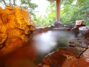 温泉の露天風呂を貸切で♪森の木々にも癒されます
