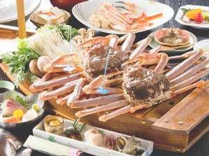 11月~3月までシーズン到来◎厳選!活き津居山ガニ*花咲きカニ刺しに、カニの天ぷら、カニ鍋、かにみそ!