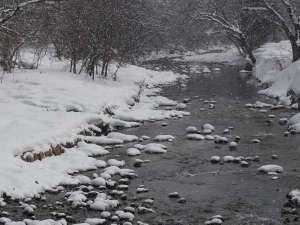 清流「豊沢川」の冬景色