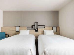 【客室】プレミアムツイン・部屋広さ…24㎡・宿泊人数…1~3名・ベッド幅…120cm
