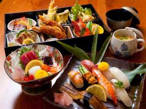 夕食付きプランのお寿司会席