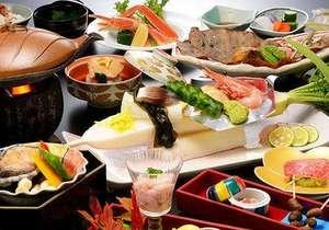 岡崎旅館夕食一例
