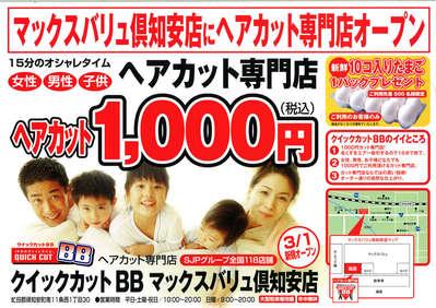 円 カット の 1000 近く