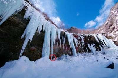 この冬の絶景を・・・part9(雲竜編)巨大ツララその1