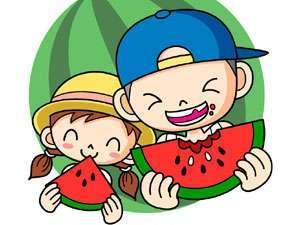 【夏休み】すいか食べ放題♪嬉しい5大特典付き! ファミリーからカップルまで楽しめる夏得プラン!昼