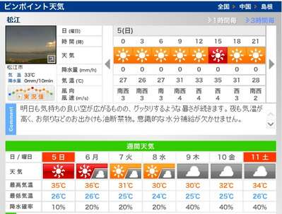 天気 予報 出雲 市