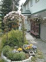 花に囲まれた宿