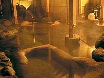 貸切風呂『峡谷(きょうこく)』夜も寝湯でくつろいで。