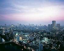 客室からは大阪の夜景が広がる