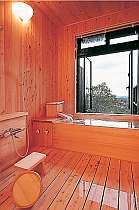 全室に桧造りの展望風呂付