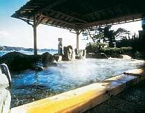 那智の滝を遠望できる海辺の露天風呂。波の音や潮の香りをお湯と共にお楽しみください♪