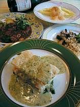 オーナーママお手製、美味しいと評判のディナー