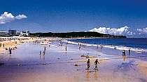 目の前は白い砂浜と青い海