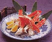 北海道産のタラバガニ。身がぎゅっとつまってます