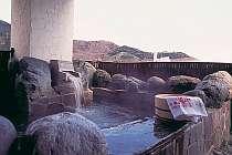 天空に浮く!?最上階の露天風呂付き客室の専用露天風呂