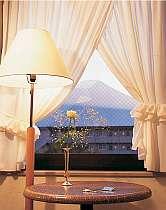 <ツインルーム>お部屋からは四季折々の富士山が目の前!