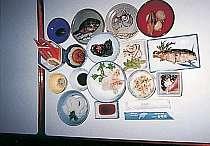 新鮮な魚介類が並ぶ料理例