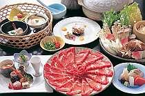 【定番】天領もち豚しゃぶしゃぶに舌鼓☆からだに優しい料理と温泉で元気に!