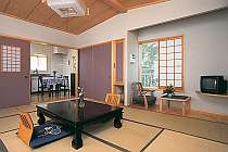 広々キッチン付客室はグループ、ファミリーに大人気
