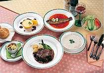 地物の素材を使ったお食事 夕食の一例