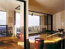 びわ湖が一望できる露天風呂付大浴場の画像